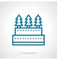 Simple line Xmas cake icon vector image