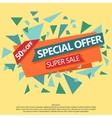 Super Sale special offer paper banner vector image