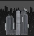 urban landscape at night vector image