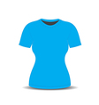 Blank t shirt template vector image