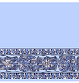 Seamless border abstract pattern blue vector image
