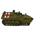 Military track ambulance vector image