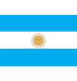 Flags of argentina vector image