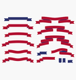 Banners ribbons and labels set vector image