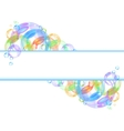 Colorful bubble background vector image vector image