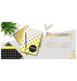 creative scene with colorful stationery vector image