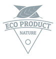 eco product logo simple gray style vector image