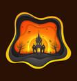 happy halloween greeting background design vector image