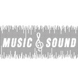 music and sound vector image