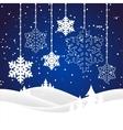 christmas snowy landscape vector image