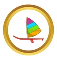 Sport boat with a sail icon vector image