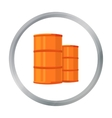 Oil barrels icon in cartoon style isolated on vector image