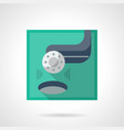 golf tournament flat color icon vector image