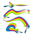 roller with paint set vector image