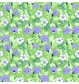 Beautiful wild bluebell flowers seamless pattern 1 vector image vector image