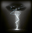 lightning and rain vector image vector image