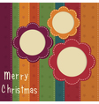 Christmas vintage background vector image