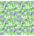 Beautiful wild bluebell flowers seamless pattern 1 vector image