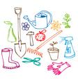 garden doodles vector image