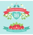 Happy valentines day greeting banners vector image