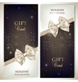 Holiday banners with ribbons background vector image