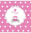 Princess Crown Background vector image vector image
