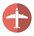 airplane transport flying travel shadow vector image