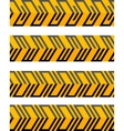 Set of geometrical seamless patterned borders vector image vector image