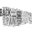 Is lower back pain a barrier to your fitness vector image