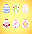 The dyed eggs for Easter vector image