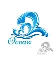 Sea wave or surf symbol vector image vector image
