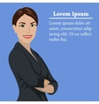 European success business woman concept vector image