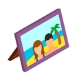 Photo frame with photo icon isometric 3d style vector image