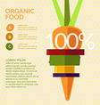 Organic food Elements and icons for cards poster vector image vector image