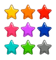 Colorful star isolated on white vector image