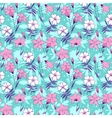 Beautiful wild bluebell flowers seamless pattern 2 vector image