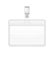 Blank identification card Badge ID template vector image