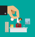 businessman get new job or promoted from his boss vector image