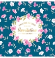 Circle floral ornament vector image