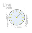 icon time in linear simple style clock sign vector image