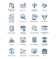 Personal Finance Icons Set 1 - Blue Series vector image