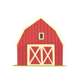 red barn wooden agricultural building with closed vector image