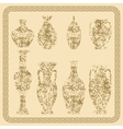 Set of antique vases vintage vector image