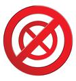 Sign forbidden circle vector image