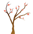 Simply Tree with pink flowers vector image