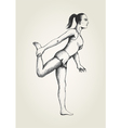 Sketch of a woman stretching her leg vector image