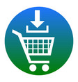 add to shopping cart sign  white icon in vector image