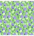 Beautiful wild bluebell flowers seamless pattern 3 vector image vector image