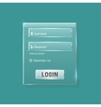 Login and register web glossy form vector image