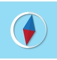 compass web icon vector image